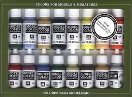 VALLEJO 70140 Basic Colors USA Set Model Color 16x