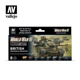Vallejo Model Color Set WWII 70222 British Armour & Infantry