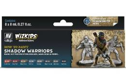VALLEJO Game Color 80253 Wizkids Color Set Premium 8x 8ml -Shadow warriors