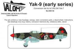 VALOM 1/72 Yak-9 early - conversion set for Yak-7