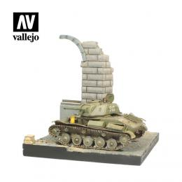 Vallejo SC003 Diorama 15,5x15,5 cm German Ruined B