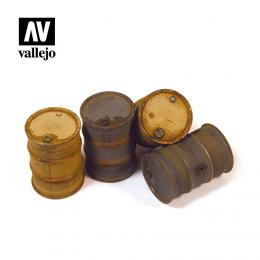 VALLEJO SC202 Diorama Accessories German Fuel Drums #2 1/35