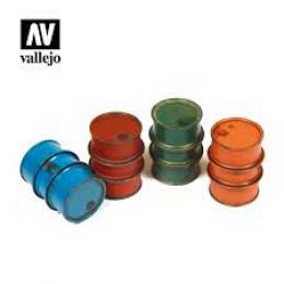 VALLEJO SC203 Diorama Accessories Civilian Fuel Drums 1/35