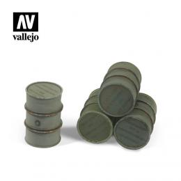 VALLEJO SC205 Diorama Accessories Wehrmacht Fuel Drums 1/35