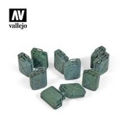 VALLEJO SC206 Diorama Accessories Allied Jerrycan set 1/35