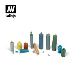 VALLEJO SC209 Diorama Accessories Modern Gas Bottles 1/35