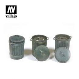 VALLEJO SC212 Diorama Accessories Garbage Bins #1 1/35