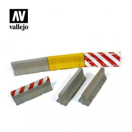 VALLEJO SC214 Diorama Accessories Concrete Barriers 1/35