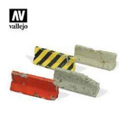 VALLEJO SC215 Diorama Accessories Damaged Concrete Barrie