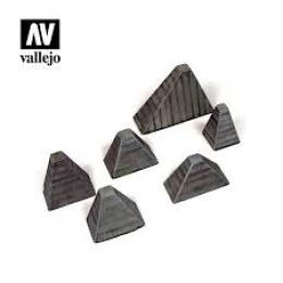 VALLEJO SC219 Diorama Accessories Höckerhindernis (Anti-T