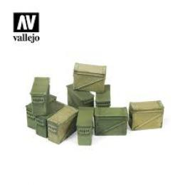 VALLEJO SC221 Diorama Accessories Large Ammo Boxes 12,7 m