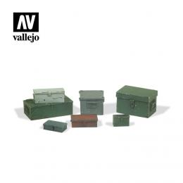 VALLEJO SC223 Diorama Accessories Universal Metal Cases 1