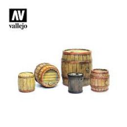VALLEJO SC225 Diorama Accessories Wooden Barrels 1/35