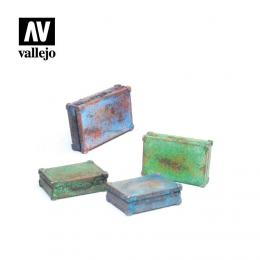 VALLEJO SC226 Diorama Accessories Metal Suitcases 1/35