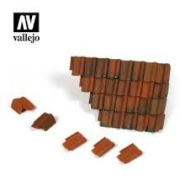 VALLEJO SC230 Diorama Accessories Damaged Roof Section an