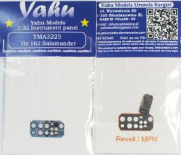 YAHU 1/32 Instrument panel He-126 Salamander for REV