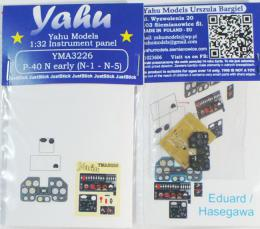YAHU 1/32 Instrument panel P-40 N early (N-1 N-5) for HAS