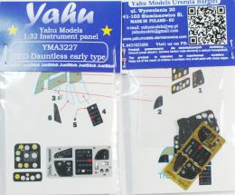 YAHU 1/32 Instrument panel Dauntless early (SBD-1/3) for TRU