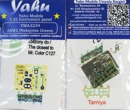 YAHU 1/32 Instrument panel for A6M2 Nakajima green for TAM