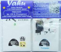 YAHU 1/32 Instrument panel for Me-109K for TRU