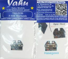 YAHU 1/32 Instrument panel for P-40E Kyttihawk for  HAS