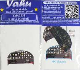 YAHU 1/32 Instrument panel for B-25J Mitchell for HK