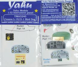 YAHU 1/32 Instrument panel for Cessna L-19/O-1 Bird Dog for ROD