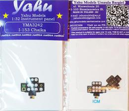 YAHU 1/32 Instrument panel for I-153 Chaika for ICM