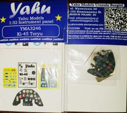 YAHU 1/32 Instrument panel for Ki-45 for ZM