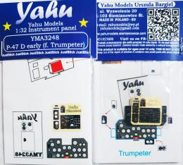 YAHU 1/32 Instrument panel for P-47D Thunderbolt early for TRU