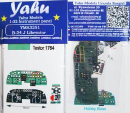 YAHU 1/32 Instrument panel for B-24J Liberator for HBB