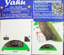 YAHU 1/32 Instrument panel for B-17G Flying Fortress for HK
