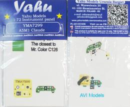 YAHU 1/72 A5M1 Calude Instrument panel for AVI