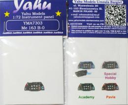 YAHU 1/72 Me-163B-0 Komet Instrument panel for ACA