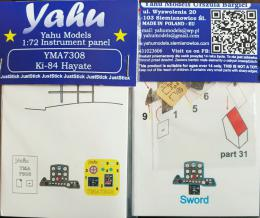 YAHU 1/72  Ki-84 Hayate Instrument panel for HAS