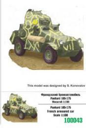 ZEBRANO 1/100 Z100-043 Panhard 165-175 French armor.car