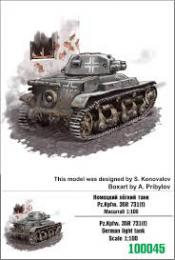 ZEBRANO 1/100 Z100-045 PzKpfw 35R 731(f) German light tank