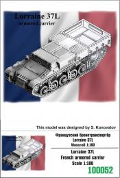 ZEBRANO 1/100  Lorraine 37L French armoured carrier