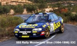 ZERO PAINTS  1041-53C Subaru 555 Rally Montecarlo B