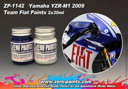 ZERO PAINTS  1142 Yamaha YZR-M1 Team Fiat 2009  2x3