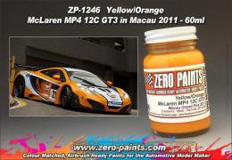 ZERO PAINTS  1246 Yellow/Orange Paint Mclaren MP4-1