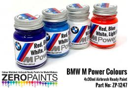 ZERO PAINTS 1247 Farby BMW M Power Colours 4x30ml