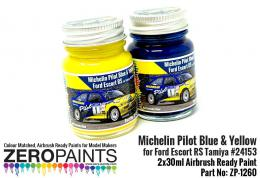ZERO PAINTS 1260 Ford Escort RS Pilot Blue Yellow 2x30ml