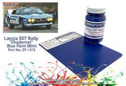 ZERO PAINTS  1315 Lancia 037 Rally Chadonnet Blue