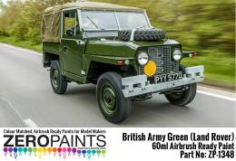 ZERO PAINTS  1348 British Army Green land Rovers  6