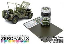 ZERO PAINTS  1350 U.S.Army Willis Jeep Green 60ml