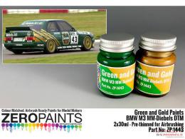 ZERO PAINTS  1443 BMW M3 MM-Diebels DTM - Green Gol