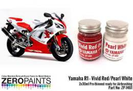 ZERO PAINTS  1461 YZF R1 Vivid Red/Pearl White Pa