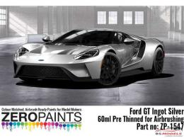 ZERO PAINTS  1547 Ford GT Ingot Silver Paint  60ml