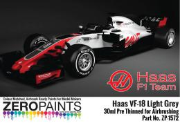 ZERO PAINTS 1575-HAAS VF-18 Light Grey Paint 30ml
